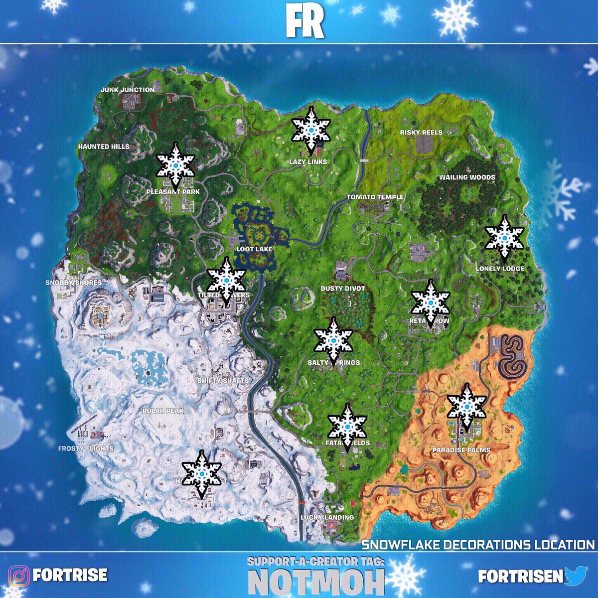 Fortnite Where To Find The Snowflake Decorations Superparent
