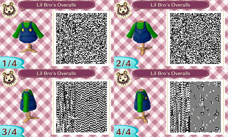 Animal Crossing New Horizons Video Game And Movie Outfit Qr Codes