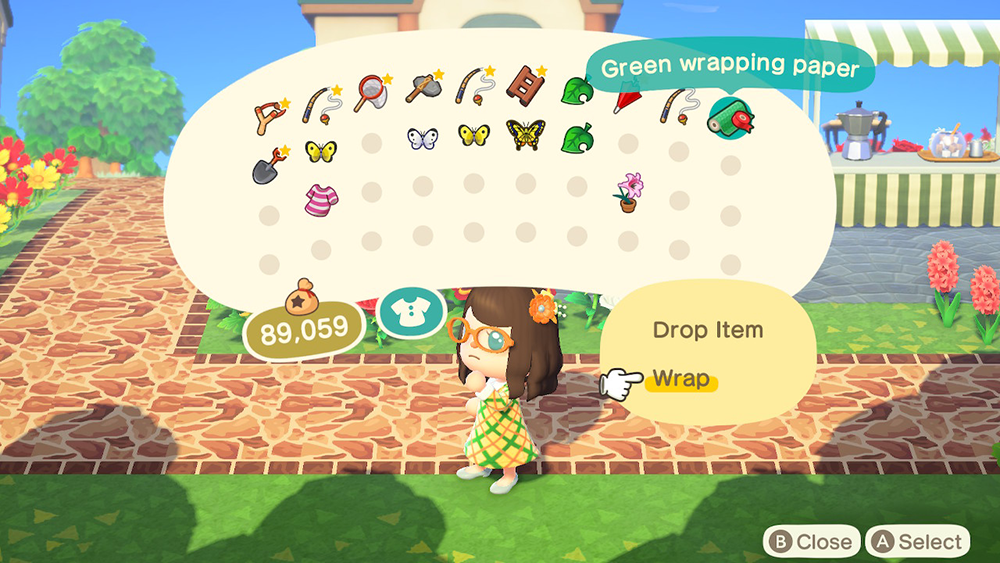 Animal Crossing New Horizons How To Wrap A Present Superparent