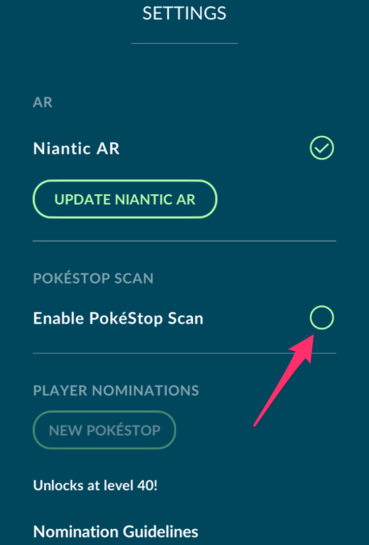 Pokemon Go: How To Turn On PokeStop Scan   SuperParent